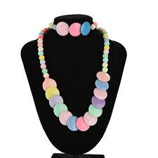 Kids Necklace Bracelet Children Girl Cute Jewelry Elastic Set Color Random^v^
