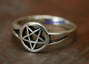 Ring ~ TORA ~ Kleines Pentagramm - Silber 925