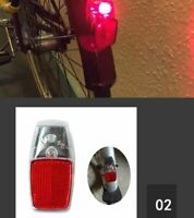Bike Fender Light Mudguard Red Plastic Safe Warning Bicycle Taillight Rear Light