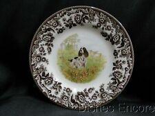 "Spode Woodland English Springer Spaniel Hunting Dog: Salad Plate (s) 7 3/4"", Box"