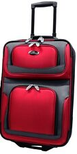 """US Traveler Red New Yorker 21"""" Carry-on Lightweight Rolling Luggage Suitcase Bag"""
