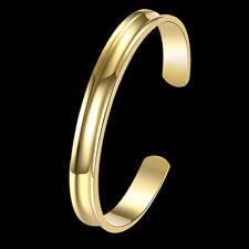 Elegant 18k 18CT Rose/Yellow Gold Filled GF Open Smooth Bracelet Bangle BN-A281