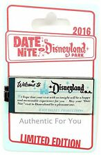 NEW Disney Date Nite Night at Disneyland Park - E Ticket Book Hinged Pin LE 1000