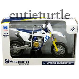 New Ray Husqvarna FS 450 Dirt Bike Motorcycle 1:12 58163 White