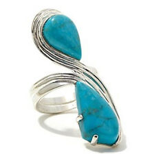 Jay King Iron Mountain Turquoise Teardrop Sterling Silver Ring 7 $261