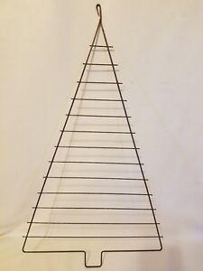 "Large 24"" Metal Steel Christmas Tree Craft Frame Vintage Macrame Supplies"