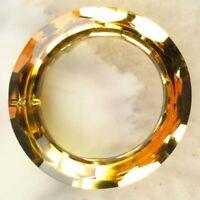 1Pcs Faceted Red Titanium Crystal Donut Pendant Bead 50x8mm C195