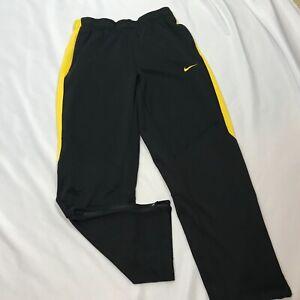 Nike Livestrong Sweatpants Mens Size Medium Zip Pockets Ankle Zips Black Yellow