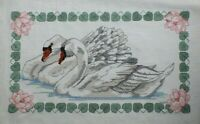 Swans Picture By Something Special Water Lily Cross Stitch Complete Finished