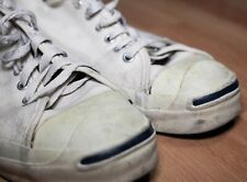 a7a85353410a3a Vintage Converse Jack Purcell Made in USA white canvas tennis sneakers sz.  10.5