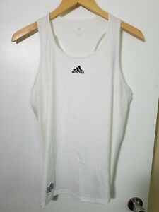 1 NWT ADIDAS CLIMALITE WOMEN'S TANK, SIZE: LARGE, COLOR: WHITE (J91)