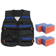 200pcs Bullets Darts+Tactical Vest Jacket for NERF N-Strike Elite Pistol Gun Toy