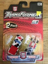 Transformers RID Ironhide Mirage Robots In Disguise 2001 2 Pack MOC #A6
