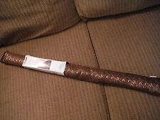 "NEW HOME BASICS BROWN JACQUARD 36"" Width Draft Blocker with Hang Cord"