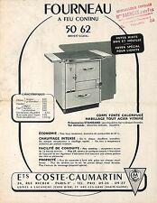 """21 LACANCHE 70 ARC-LES-GRAY PROSPECTUS """" FOURNEAUX COSTE-CAUMARTIN """" 1951 ?"""