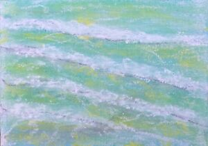 ST IVES PORTHMEOR BEACH WAVES BY NIGEL WATERS ORIGINAL BOARD PAINTING SIGNED