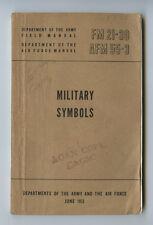 WW2 US Field Manual FM 21-30 AFM 55-3  Symbols 1951