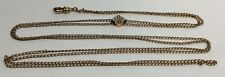 Antique Victorian Gold Filled Slide Chain Seed Pearls & Opal (W81)