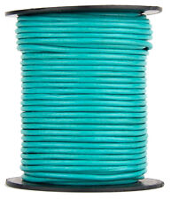 Turquoise Round Leather Cord 1 mm 10 meters (11 yards)