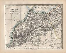 1900 MAPPA Vittoriana ~ Marocco Marocco