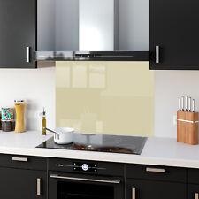 Shades Of Beige Toughened Glass Kitchen Splashback Panels Any Size & Colour