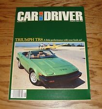 1980 Triumph TR8 Car and Driver Foldout Sales Brochure 80