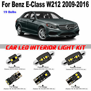 19pcs White LED Interior Light Kit For Benz E-Class W212 2009-2016 Free Shipping