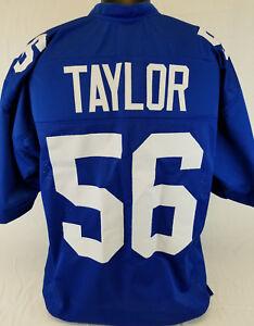 Lawrence Taylor Unsigned Custom Sewn Blue Football Jersey Size - L, XL, 2XL