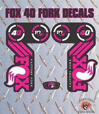 FOX 40 Rosa FORK Adesivi Decalcomanie Grafiche mountain bike Down Hill MTB
