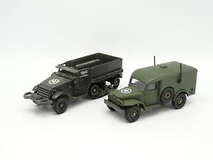 Solido Military Army Sb 1/50 - Bundle Half Track + Dodge 4x4