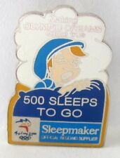 SLEEPMAKER 500 DAYS TO GO BED SYDNEY OLYMPIC GAMES 2000 PIN BADGE COLLECT #411
