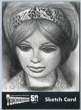Thunderbirds 50 Years Sketch Card by Andy Fry of Lady Penelope