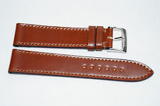 Leather Watch Strap Band for Glashutte Nomos 20mm brown Shell Cordovan