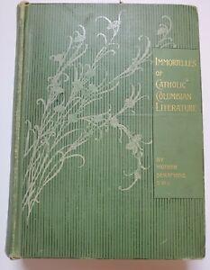 Antique 1897 Immortelles of Catholic Religion Literature Women Writers Illustrd