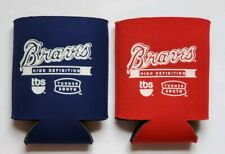 Two Atlanta Braves Can Koozies - Late 1990's to Early 2000's - TBS Turner South