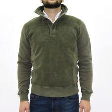 Maglione MCS Marlboro Classics tg. M felpa caldo cotone uomo verde scuro 4758