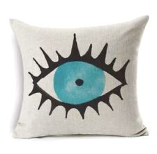 Evil Eye Pillow Cushion Cover Greek Turkish Home Decor Linen