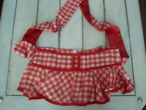 LIVING DEAD SOULS NEW LADIES RED GINGHAM ROCKABILLY MINI SKIRT TIE BACK NWT'S