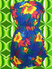 108✪ Flower-Power Hawaiiblumen Prilblumen Hängerchen Top 70er Jahre Hippie Gr 38