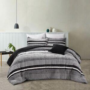 Bianca Ravenna 4-Piece Comforter Set Coal