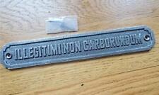 More details for cast iron sign illegitimi non carborundum ~ dont let the b'stards grind you down