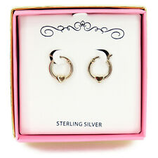 Macy's Children's Heart Hoop Sterling Silver Earrings