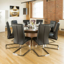 Unbranded Walnut Table and Chair Sets with 8 Seats