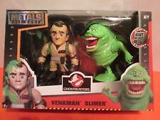 """Ghostbusters Venkman Slimer Heavy Die Cast Metal Action Figure 4"""" Jada Toys M79"""