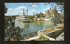 Vtg 1970's Chrome Postcard Walt Disney World The Admiral Joe Fowler Sternwheeler