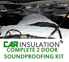 Complete Car Door Insulation Kit Sound Proofing Deadening 2 Doors Material Noise