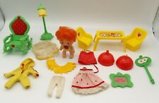 1983 Strawberry Shortcake Baby Apple Dumplin Doll and Berry Happy Home Furniture