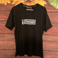 Under Armour Black & White Crewneck Tee T-Shirt  Size XLarge Short Sleeve Men's