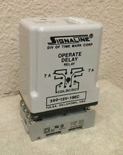SIGNALINE 360-12V-1SEC OPERATE DELAY RELAY W/ SQD 8501NR51 BASE SEE PICTURES