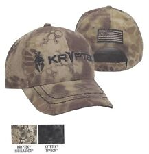 66a2530c98d KRYPTEK Highlander Typhon Camo FLAG Back +2 Logos Tactical Military Hunting  Hat